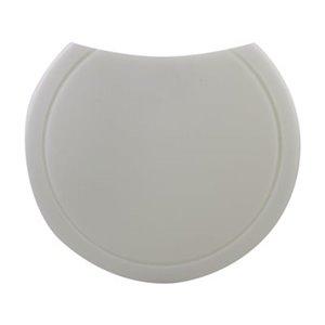 ALFI Brand 15-in White Round Polyethylene Cutting Board