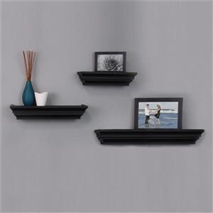 Nexxt Designs Madison Black Wall Shelves (Set of 3)