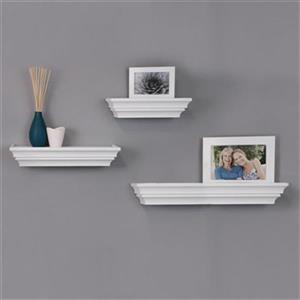 Nexxt Designs Madison White Wall Shelves (Set of 3)