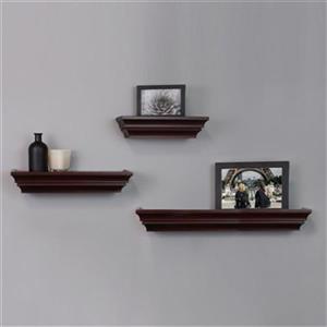 Nexxt Designs Madison Espresso Wall Shelves (Set of 3)