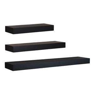 Nexxt Designs Maine Black Wall Shelves (Set of 3)
