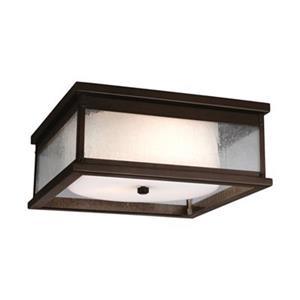 Feiss Pediment Brown 2-Light Outdoor Close to Ceiling Light