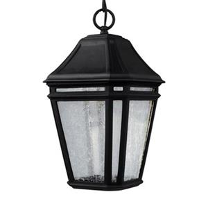 Feiss Londontowne Collection 8.25-in x 15-in Black Lantern LED Pendant Light