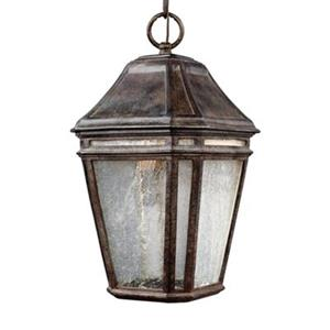 Feiss Londontowne Collection 8.25-in x 15-in Weathered Chestnut Lantern LED Pendant Light