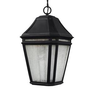 Feiss Londontowne Collection 9.75-in x 17.25-in Black Lantern LED Pendant Light