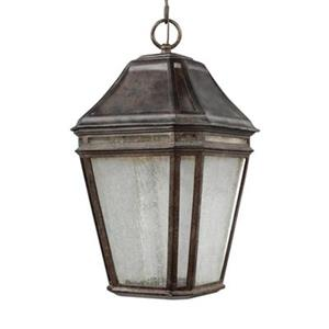Feiss Londontowne Collection 9.75-in x 17.25-in Weathered Chestnut Lantern LED Pendant Light