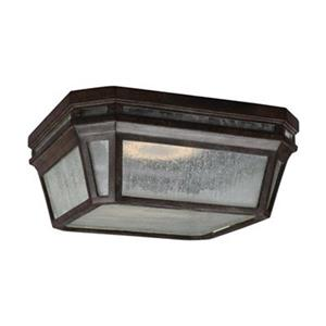 Feiss Londontowne Brown LED Outdoor Close to Ceiling Light