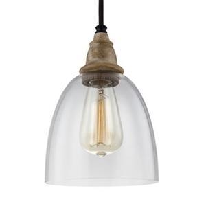 Feiss Matrimonio Collection 6.37-in x 9.12-in Dark Weathered Zinc Bell Mini Pendant Light