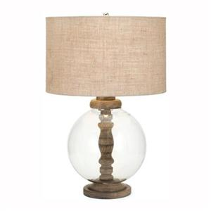 IMAX Worldwide Mahin Wood and Glass Lamp
