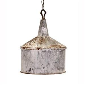 IMAX Worldwide 10.75-in x 14.5-in Grey Norman Galvanized Bell Mini Pendant Light