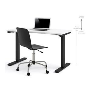 Bestar 24-in x 47.63-in White Electric Height Adjustable Desk