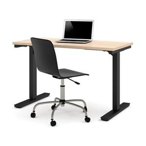 Bestar 24-in x 47.63-in Northern Maple Electric Height Adjustable Desk