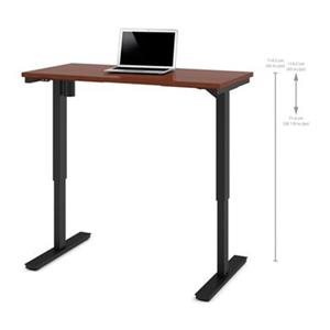 Bestar 24-in x 47.63-in Bordeaux Brown Electric Height Adjustable Desk
