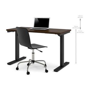 Bestar 24-in x 47.63-in Chocolate Brown Electric Height Adjustable Desk