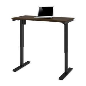 Bestar 24-in x 47.63-in Dark Brown Electric Height Adjustable Desk