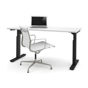 Bestar 30-in x 59.30-in White Electric Height Adjustable Desk