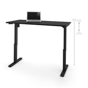 Bestar 30-in x 59.30-in Black Electric Height Adjustable Desk