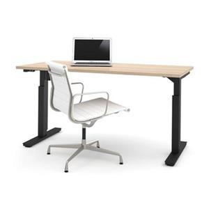 Bestar 30-in x 59.30-in Northern Maple Electric Height Adjustable Desk