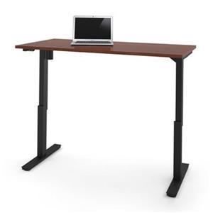 Bestar 30-in x 59.30-in Bordeaux Brown Electric Height Adjustable Desk