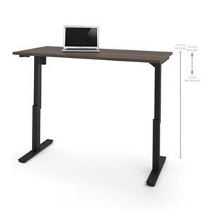 Bestar 30-in x 59.30-in Antigua Brown Electric Height Adjustable Desk