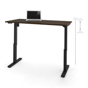 Bestar 30-in x 59.30-in Dark Brown Electric Height Adjustable Desk