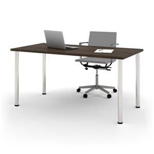 30-in x 60-in Round Metal Leg Table