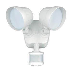 Cascadia Delta Smart Lighting 2-Level White LED Motion Sensor Dusk to Dawn Security Light