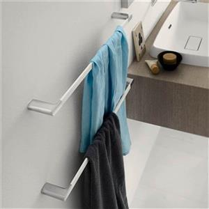 WS Bath Collections Mito 25.20-in Polished Chrome Towel Bar