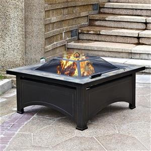 Az Patio Heater Wood Burning Fire Pit With Slate Table