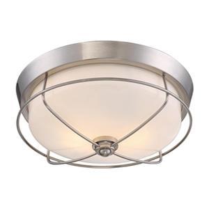 Quoizel Silver 2-Light Flush Mount Ceiling Light
