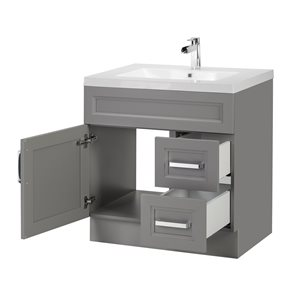 Cutler Kitchen & Bath Urban 30-in Day Break Grey Single Bowl 2-in Top Free Standing Bathroom Vanity