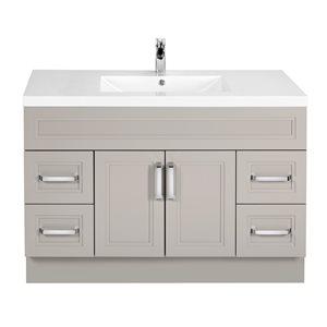 Cutler Kitchen & Bath Urban 48-in White Single Bowl 2-in Top Free Standing Bathroom Vanity