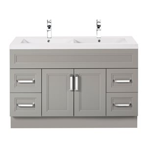 Urban Collection Double Bowl Vanity with 2-in Top