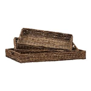 IMAX Worldwide Madura Banana Leaf/Iron Trays (Set Of 3)