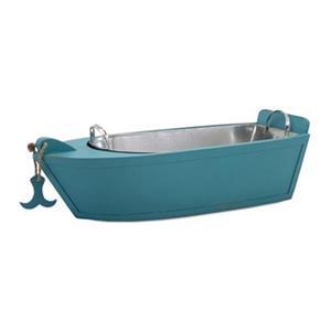 IMAX Worldwide 33.25-in x 10-in Blue Cayman Boat Drink Bucket