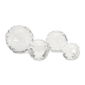 IMAX Worldwide Cut Crystal Glass Spheres (Set Of 4)