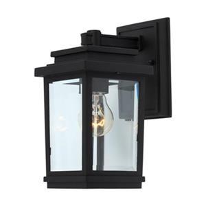 Artcraft Lighting Freemont 1-Light Small Black Outdoor Sconce