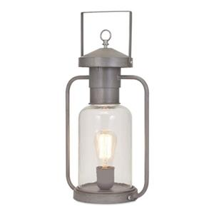 IMAX Worldwide Newport Glass Lantern Table Lamp