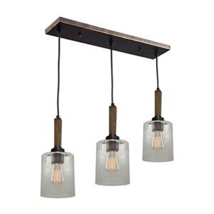 Legno Rustico 3-Light Island Light