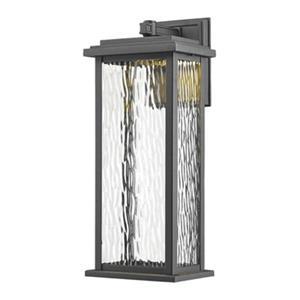 Artcraft Lighting Sussex Medium Black Outdoor LED Wall Sconce