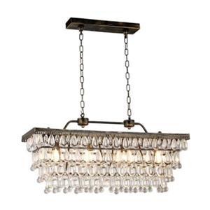Warehouse of Tiffany Jaden 4-Light Crystal Pendant Kitchen Island Light
