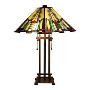 Warehouse of Tiffany Divina 2-Light Multi-color Table Lamp