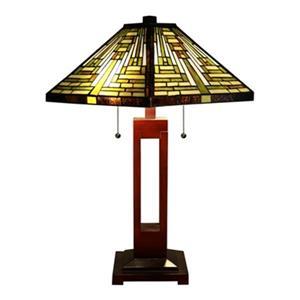 Warehouse of Tiffany Juanita 2-Light Tiffany-Style Table Lamp