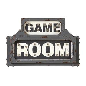 RAM Game Room Products 18.5-in x 12.5-in Lit Metal Game Room Battery Operated Sign