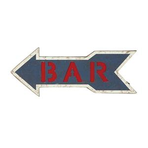 RAM Game Room Products 20-in x 7-in Lit Metal Bar Arrow Battery Operated Sign