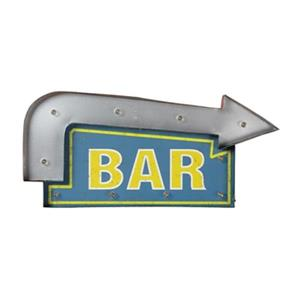 RAM Game Room Products 24-in 11-in Lit Metal Bar Arrow Battery Operated Sign