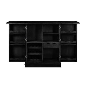 RAM Game Room Products 44-in x 36-in Black Portable Folding Bar Cabinet