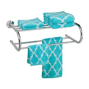 Honey Can Do 22.64-in Polished Chrome Wall Mount Towel Rack