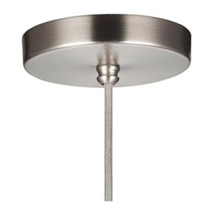 Feiss Doyle Collection 9.75-in x 9.5-in Satin Nickel Wide Bell Mini Pendant Light