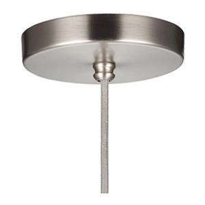 Feiss Doyle Collection 7-in x 13.5-in Satin Nickel Narrow Bell Mini Pendant Light